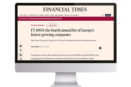 CLAREO sur le FinancialTimes.com