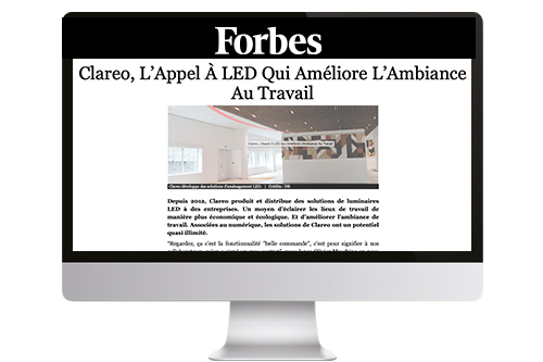 CLAREO sur Forbes.fr