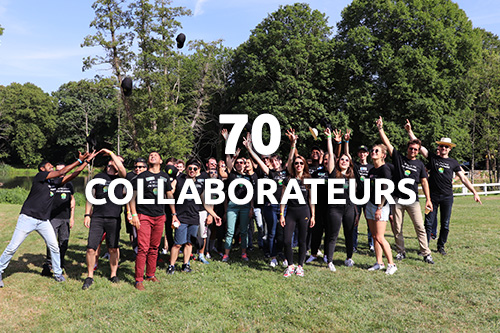 70 collaborateurs